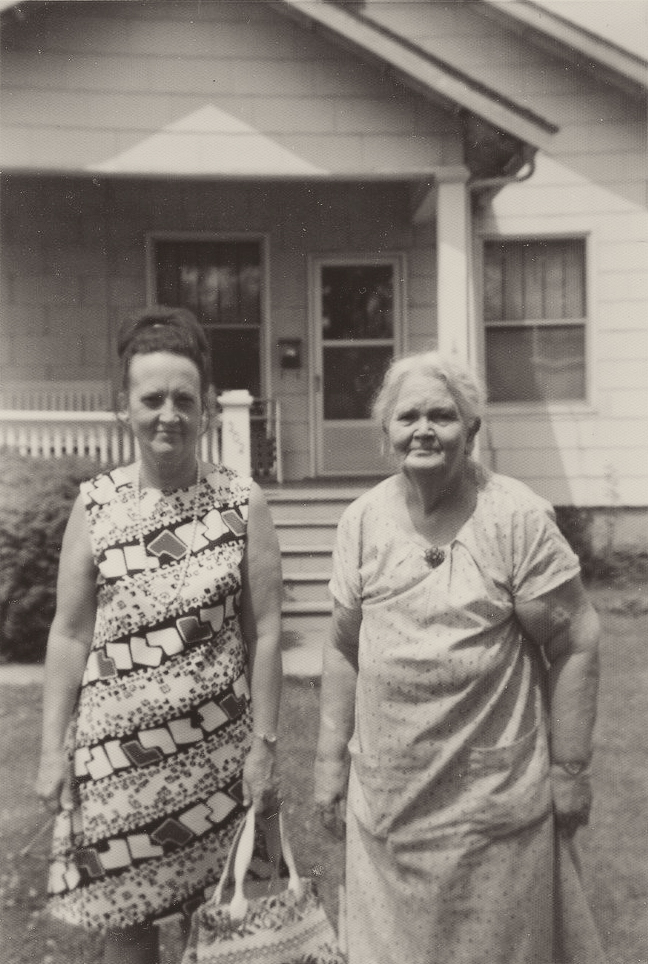 my grandma and her aunt georgie who i was named af